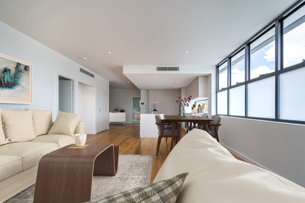 norman park apartment interior